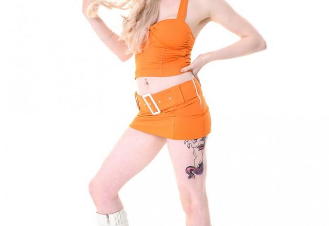 UK blonde stripper